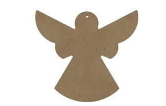 ange moderne en bois pour le sapin Noël girly