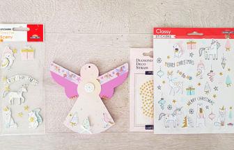 ange moderne en bois customiser pour le sapin Noël girly
