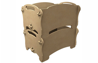 boite de rangement enfant empilable en bois à personnaliser