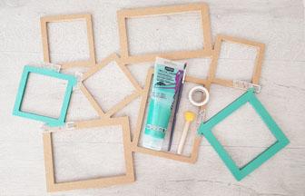 cadre photos carrés en bois à peindre