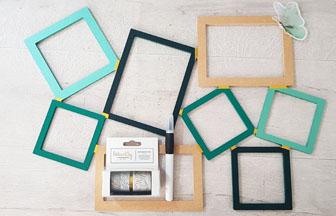 cadre photo pèle-mêle en bois à customiser en DIY