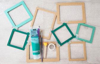 cadre photos en bois à personnaliser en loisirs créatifs