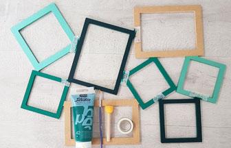 cadre photos en bois à habiller avec de la peinture