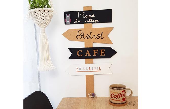 Tutoriel : un superbe panneau directionnel en bois à décorer pour votre cuisine !