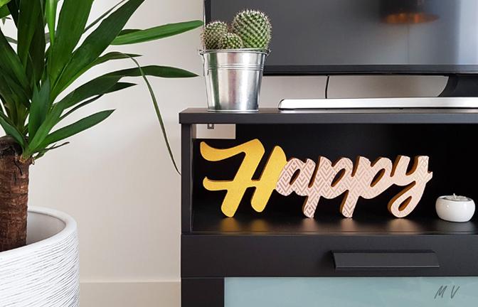 Tutoriel : un mot décoratif en bois à poser dans votre décoration tendannce !