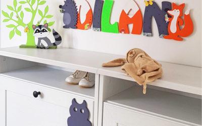 Décoration renard chambre bébé tendance avec des formes en bois pour une chambre d'enfant !
