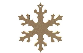 flocon de noël en bois pour sapin Noël girly