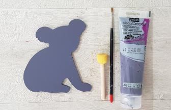 peindre le petit koala en bois