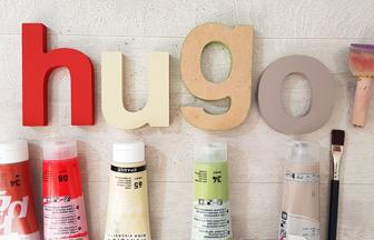 peinture des lettres en bois à poser thème ferme