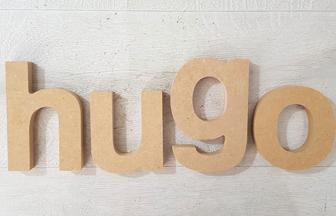 lettres en bois à poser prénom