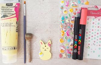 mini lapin percé en bois à peindre