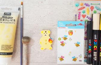 mini ours percé en bois à peindre et décorer