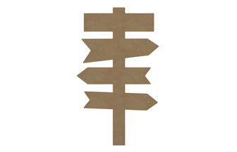 panneau directionnel en bois à customiser