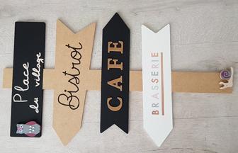 panneau signalétique en bois pour votre cuisine