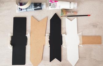 panneau signalétique en bois à peindre