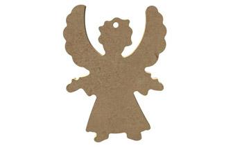petit ange de face en bois