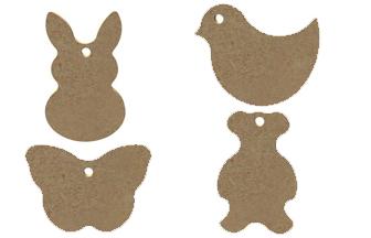 porte clés en bois formes animaux à customiser