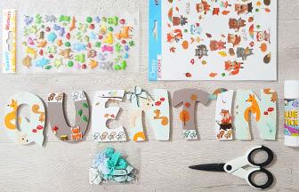 une idée de déco bébé garçon avec les lettres à décorer