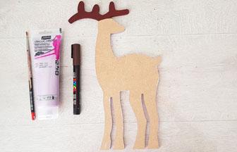 colorier les bois du renne de Noël