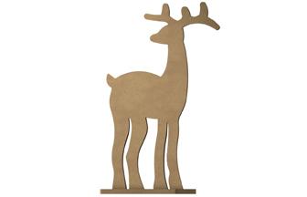 petit renne à poser sur socle en bois