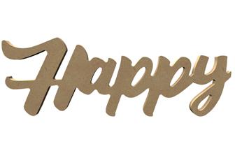 mot décoratif tendance en bois happy à poser