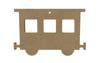 wagon percé en bois