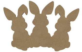 belle forme 3 lapins en bois à customiser