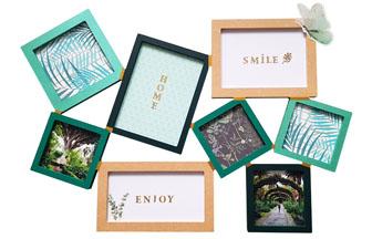 cadre pèle-mêle en bois à décorer avec vos photos