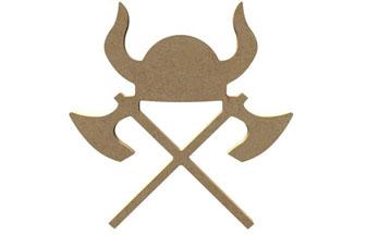 casque de viking en bois pour une déco chambre viking