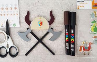 casque à recouvrir de peinture et strass pour la déco chambre viking
