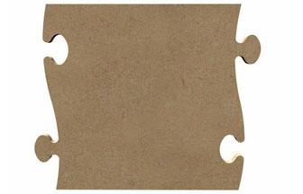 pièce de puzzle en bois à décorer