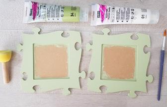 cadre photo puzzle à peindre