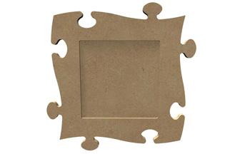 un cadre photo enfant puzzle en bois