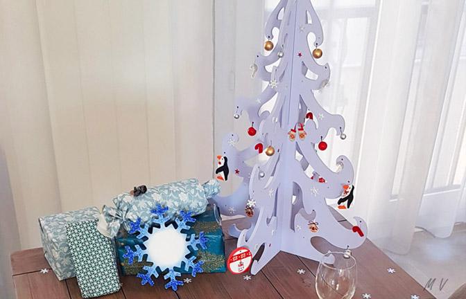 déco table Noël avec des supports en bois à personnaliser