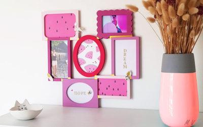 Décorer la chambre d'un enfant avec le tuto cadre photo girly en bois !