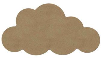grand nuage en bois pour une idée déco chambre bébé à faire soi même