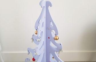 déco table Noël avec le grand sapin 3d baroque