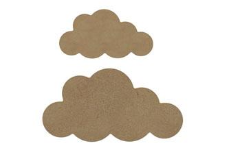 petit et moyen nuages en bois pour une idée déco chambre bébé à faire soi même
