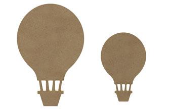 déco montgolfières en bois à customiser