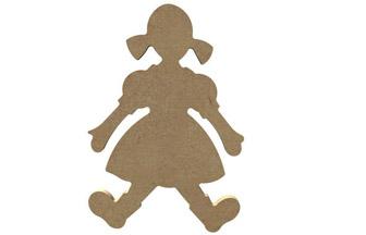 petite poupée en bois à customiser