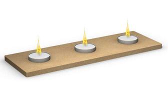 support bougies rectangles en bois