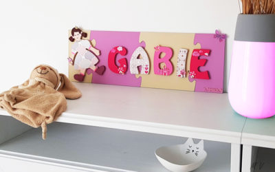Tutoriel : une décoration girly pour chambre d'enfant avec des lettres en bois