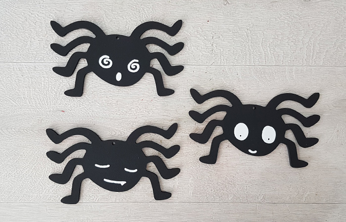 araignées Halloween en bois pour décoration fun