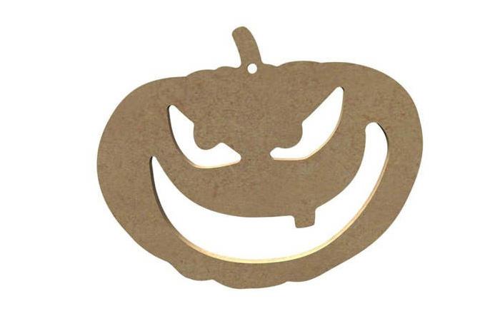 citrouille Halloween en bois à décorer terrifiante