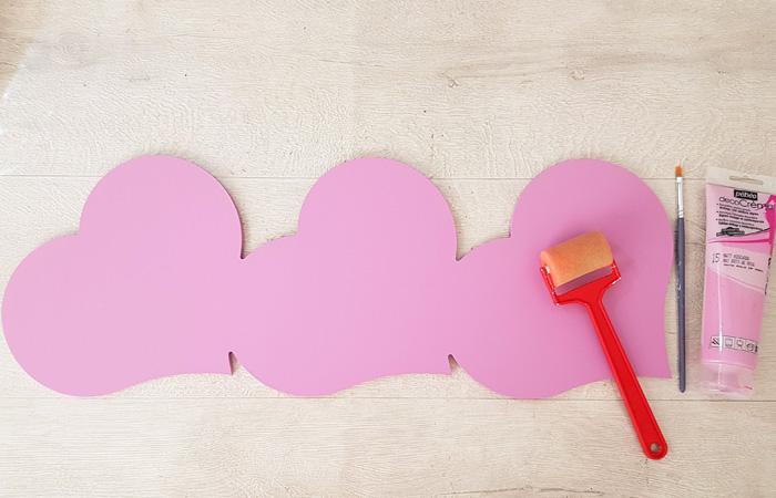 tuto cœurs en bois peinture rose