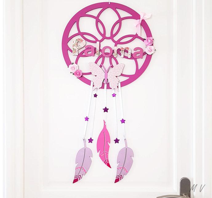 Tutoriel : une décoration de porte avec un attrape rêve tuto en bois à personnaliser !
