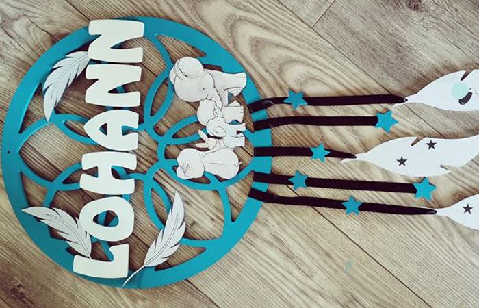 attrape rêve tuto en bois et éléphant