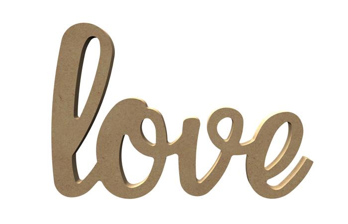 mot love en bois à poser
