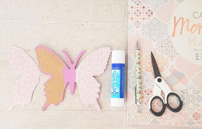 attrape rêve tuto avec le papillon en bois