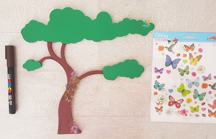 arbre savane en bois à personnaliser avec des stickers